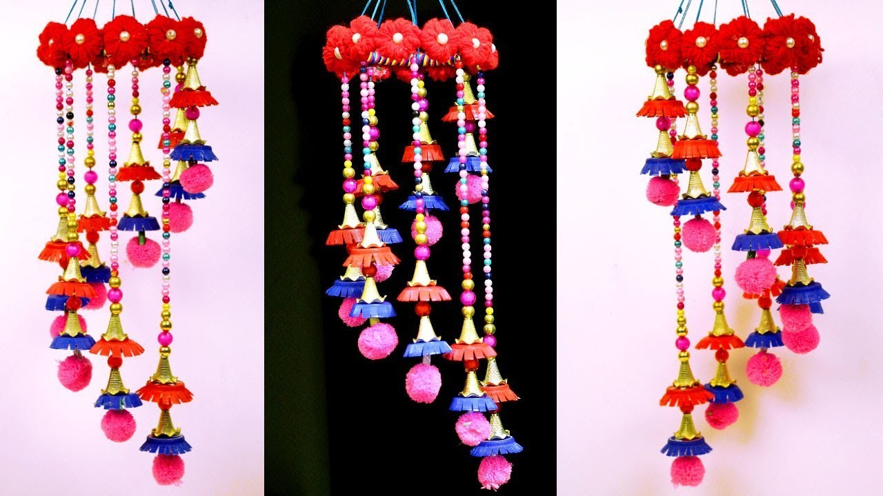 How To Make Wind Chime Out Of Wool And Bottle Caps Diy