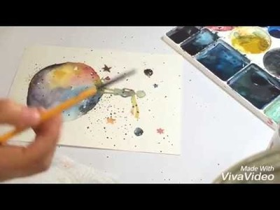 How to watercolor painting . The Little Prince