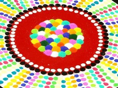 Latest Diwali Rangoli Design - Easy Colorful Unique Rangoli   StylEnrich Rangoli