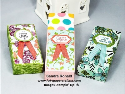 Mini Tissue Holder using Memories & More - SandraR Stampin' Up! Demonstrator Independent