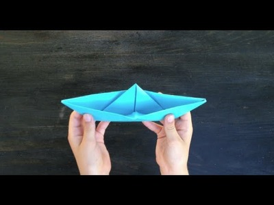 Origami - How to Make a Paper Boat
