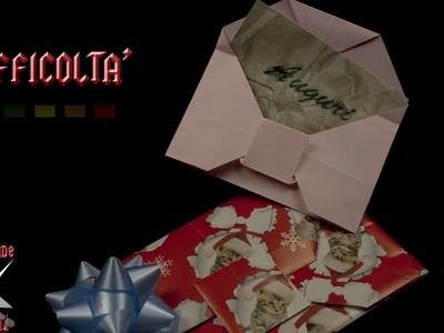 [ORIGAMI ITA] Busta Per Auguri PERSONALIZZABILE    Origami Di Natale