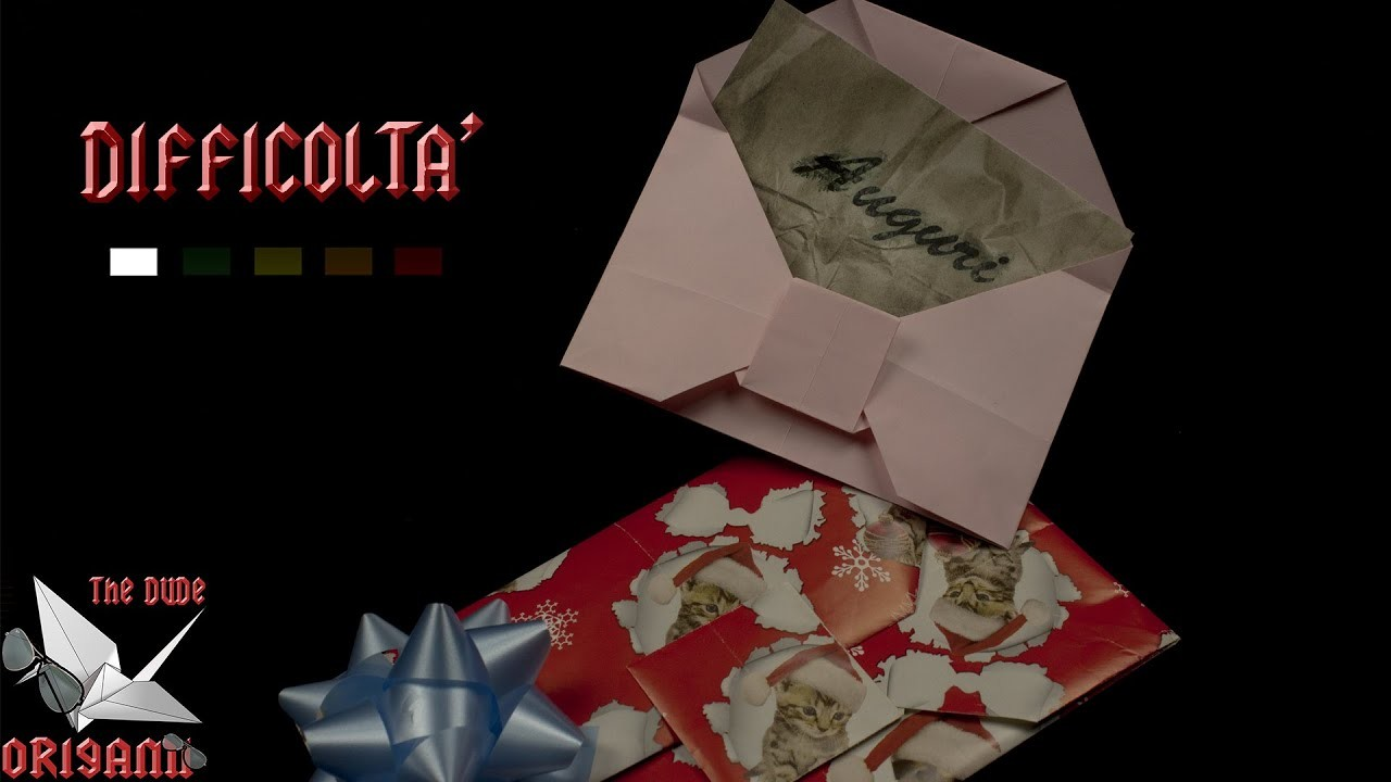 [ORIGAMI ITA] Busta Per Auguri PERSONALIZZABILE || Origami Di Natale