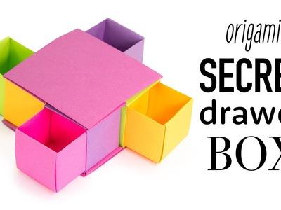 Origami Secret Drawer Box Tutorial - DIY - Paper Kawaii