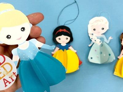 Paper Cinderella Ornament - DIY Princess Christmas Decorations
