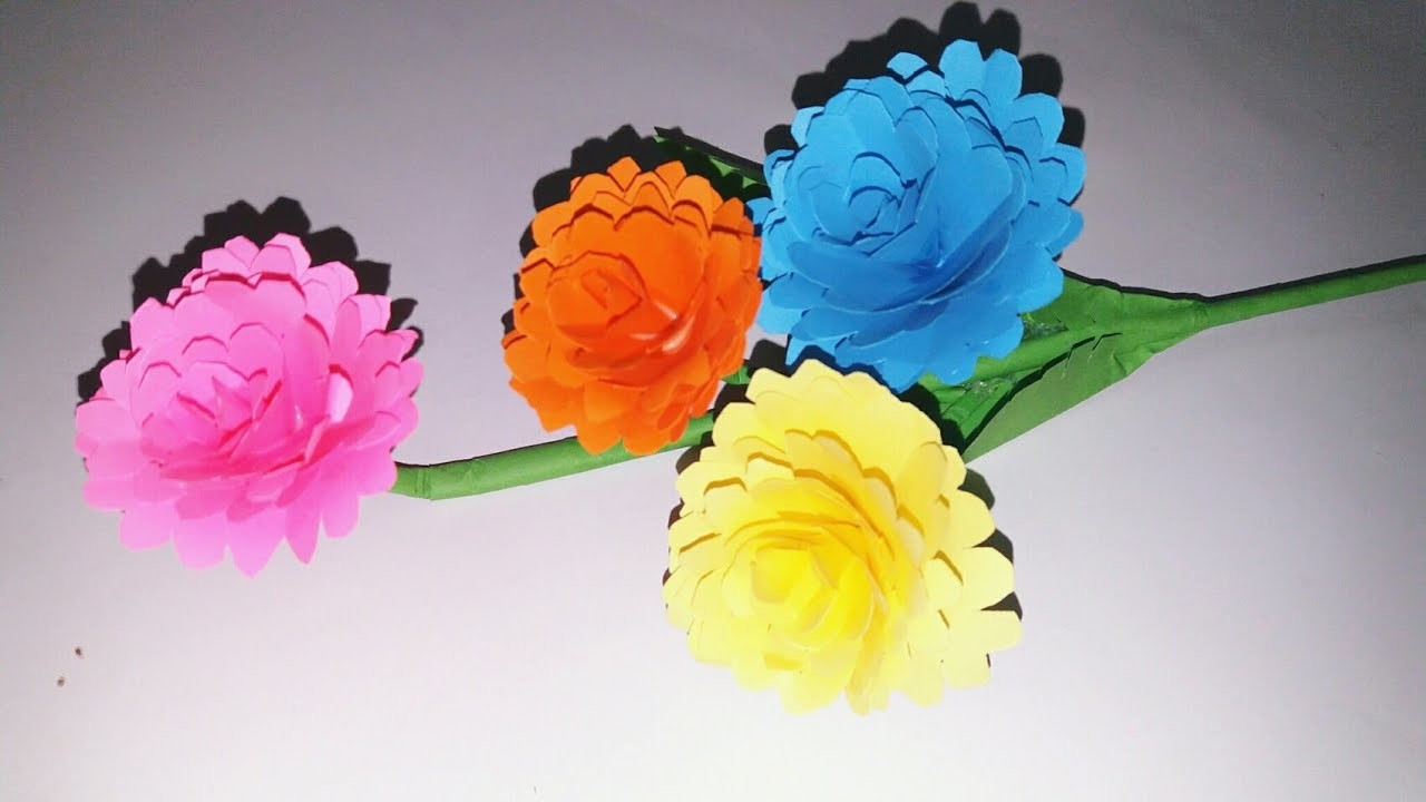 how to make flower with craft paper