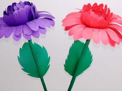 Paper Flowers | Beautiful & Easy Paper Stick Flower at Home||Stick Flower | Jarine's Crafty Creation