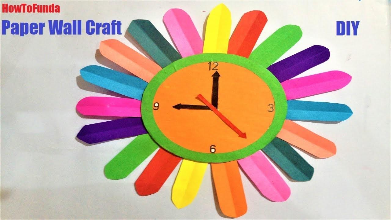 Paper Wall Clock Craft Ideas Wall Clock For Kids Project Diy