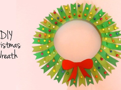 Paper Wreath Christmas Decoration | Easy Paper Crafts for Christmas