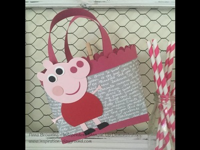 Peppa Pig Punch Art using Stampin Up! Products