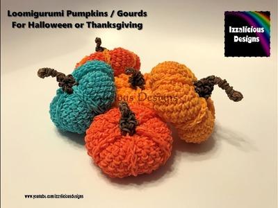 Rainbow Loom Loomigurumi Pumpkin. Gourd for Thanksgiving or Halloween made with rubber loom bands