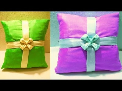 SMOCKING PATTERN cushion cover making design cutting stitch zipper idea in hindi at home patchwork