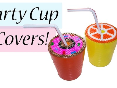 Summer Party Cup covers - Perler bead tutorial