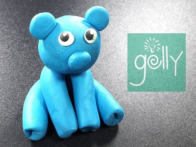 Teddy Bear Clay modelling for kids | how to make blue teaddy bear | polymer clay making for kids