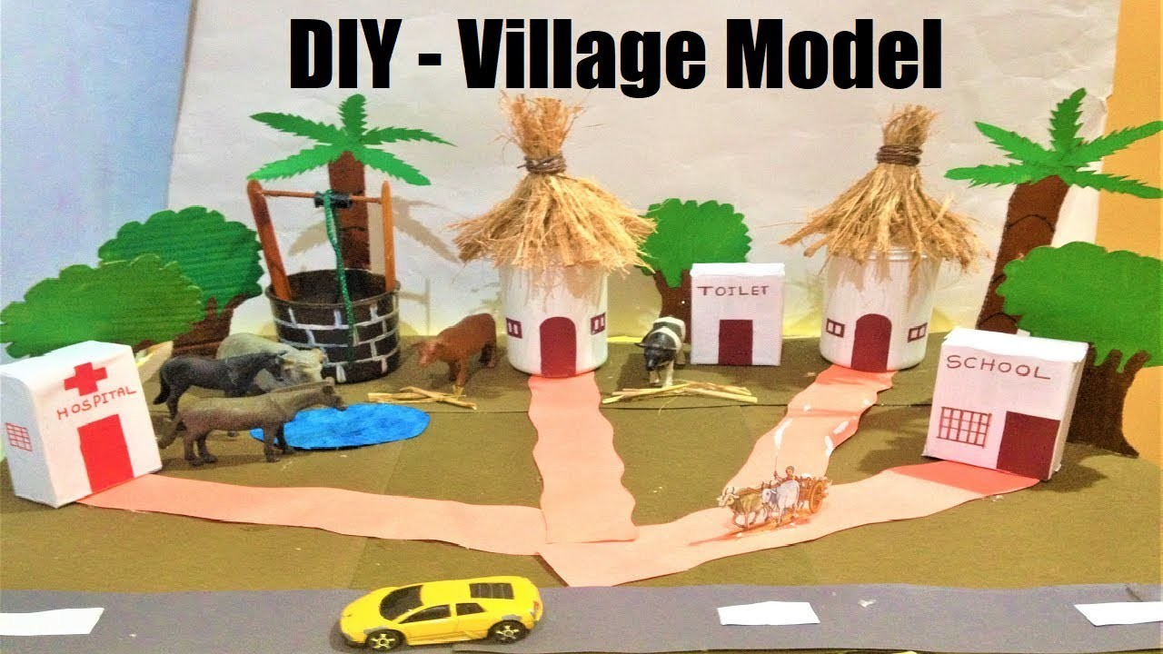 Village model school project | best out of waste | exhibition
