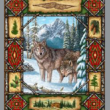 Wolf Lodge Cross Stitch Pattern***LOOK***