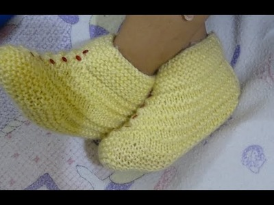 2 to 3 years Baby booties, shoes & socks || easy Baby Booties in hindi  | How To Knit Baby Booties.