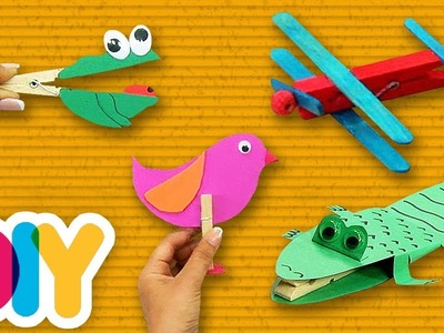 3 Easy CLOTHESPIN CRAFTS you can do with your kid at home | Fast-n-Easy | DIY Arts & Crafts