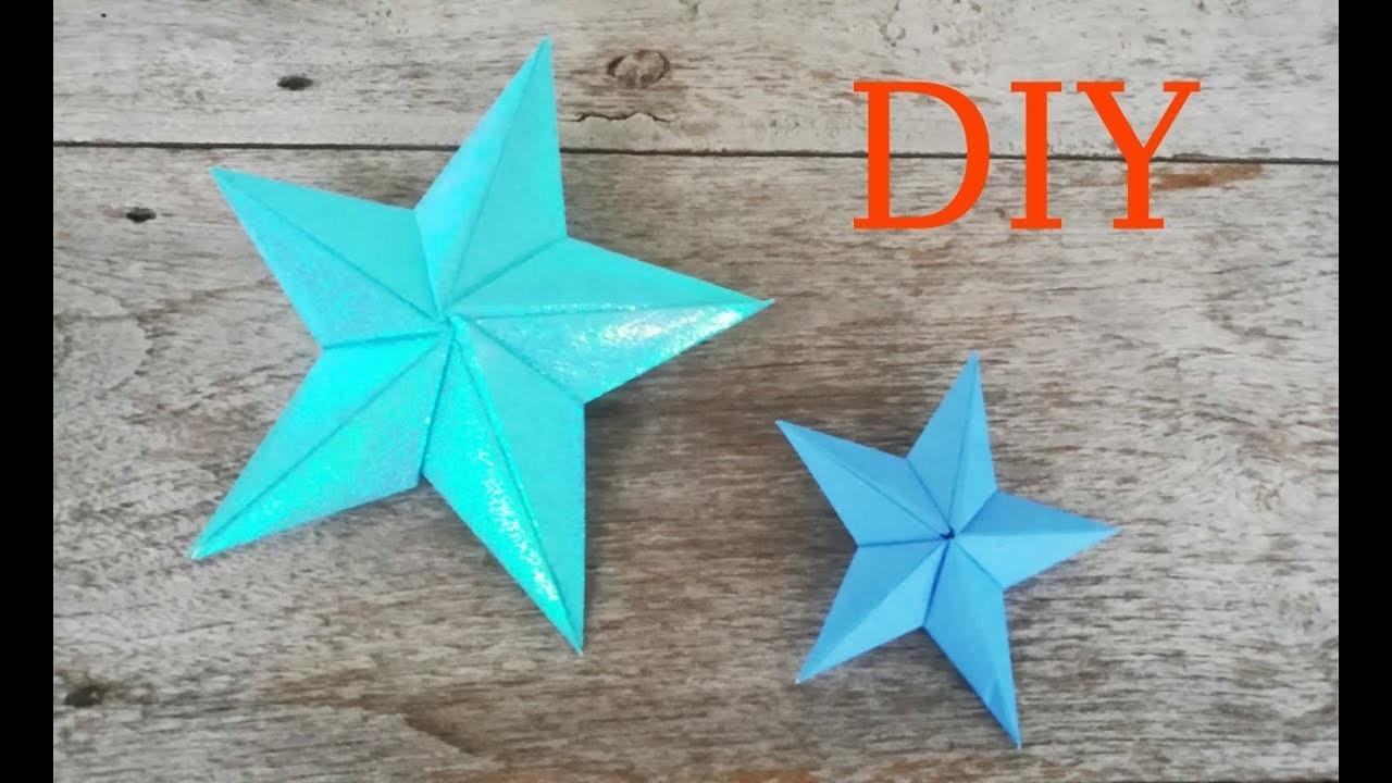 3D Star NO Cut.Easy Origami