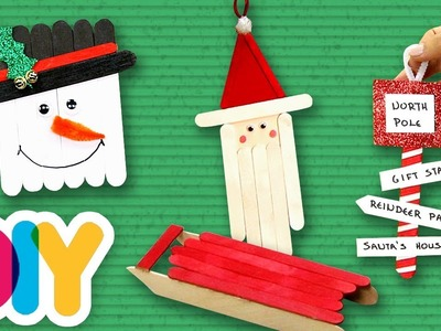 4 CHRISTMAS Popsicle CRAFT IDEAS for TODDLERS to do at home   Fast-n-Easy   DIY Arts & Crafts
