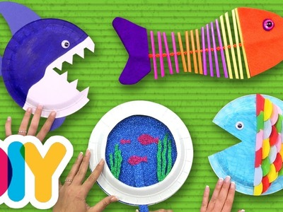 4 Fantastic OCEAN CRAFTS you can do with your kid | Fast-n-Easy | DIY Arts & Crafts