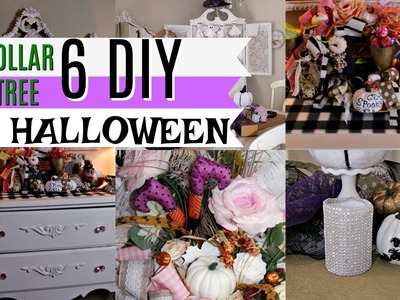 ????6 DIY DOLLAR TREE HALLOWEEN FALL DECOR ???? MINI HOUSE TOUR