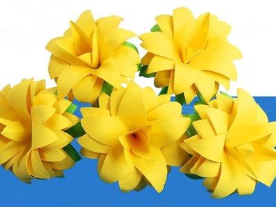 Amazing Paper Craft | How to Make Beautiful Paper Flower Stick (Siam Tulip)