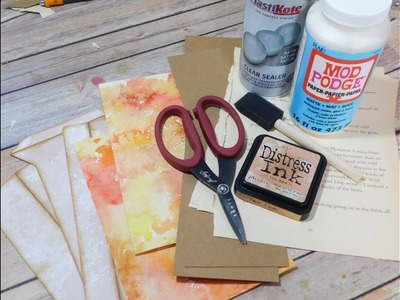 Autumn Travelers Notebook | Making the Cover | Part 1