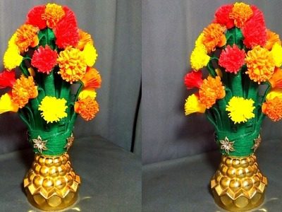 Best use of Wastage idea using Shopping Bag And Plastic Bottle   Water Bottle Recycle Flower Vase