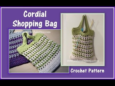 Cordial Shopping Bag Crochet Pattern