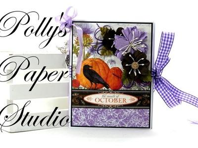 Day 11 of 13 Days of Halloween Vintage Mini Album Scrapbook Polly's Paper Studio Graphic 45  Process