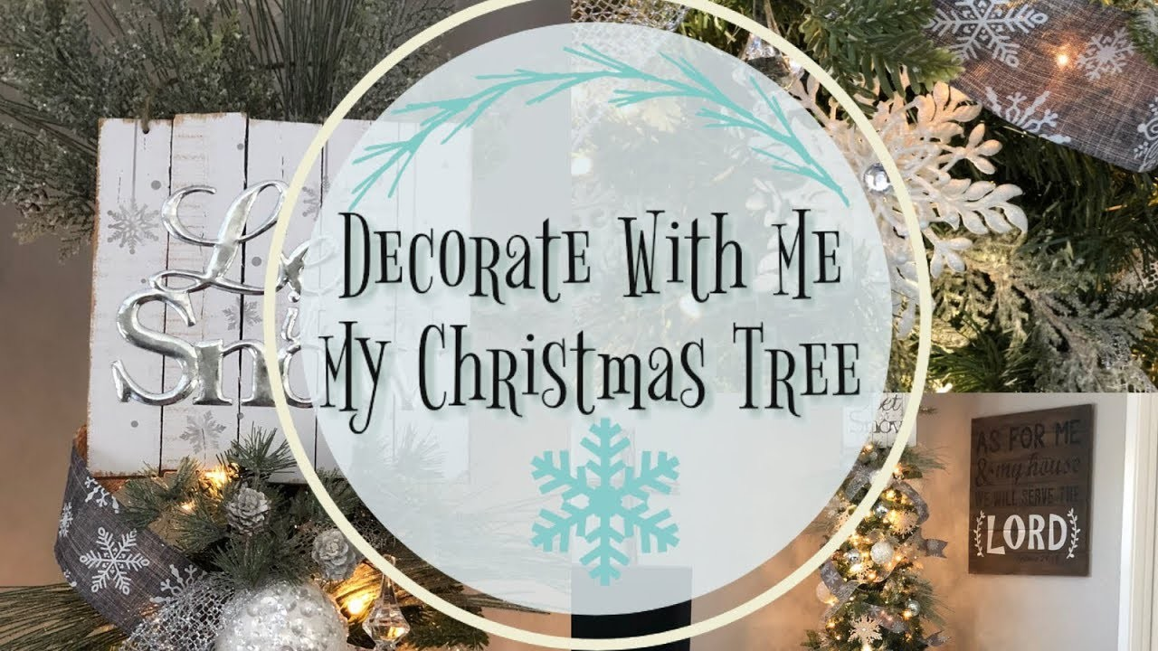 Decorate With Me My Christmas Tree | White and Silver Christmas Tree ***Flashing Light in Texts***