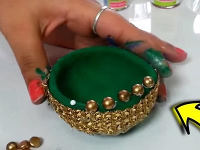 Deepawali.Diwali Very easy unique diya decoration at home | Decoration for diwali