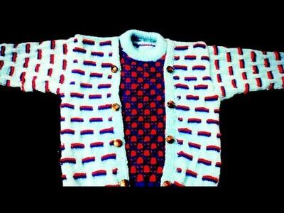 Designer double colour sweater design in Hindi part# 2