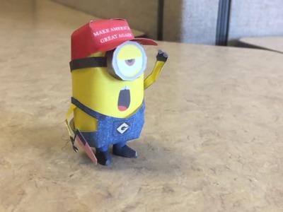 Despicable Me papercraft: minion on strike
