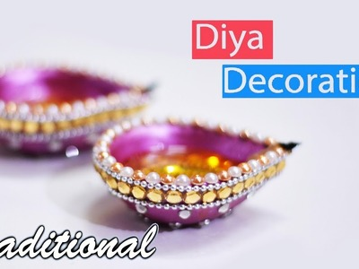 Diwali Special   How to decorate traditional Diya At home   Diwali Decoration