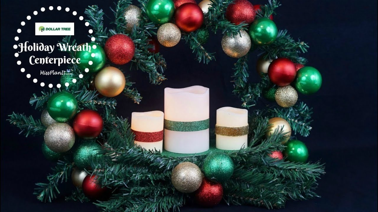 DIY $10  Dollar Tree Christmas Wreath Centerpiece | Dollar Tree DIY| DIY Dollar Tree  Tutorial