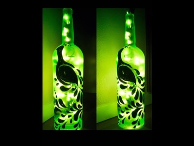 Diy bottle decoration idea.Diy waste glass bottle crafts.Diy home decor. Amazing pixies