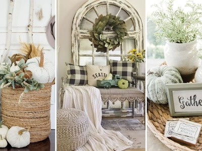 ❤DIY Farmhouse style Neutral fall decor Ideas❤   Home decor & Interior design  Flamingo Mango