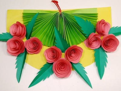 DIY: How to Make Beautiful Paper Rose Wall Hanging | Paper Wall Hanger | Jarine's Crafty Creation
