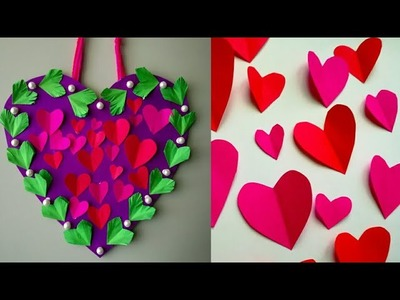 Diy paper flower wall hanging.Simple and beautiful Heart wallhanging. Wall decoration by KovaiCraft