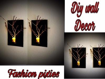 Diy wall hanging craft.Diy wall candle holder.room decor idea.Fashion pixies