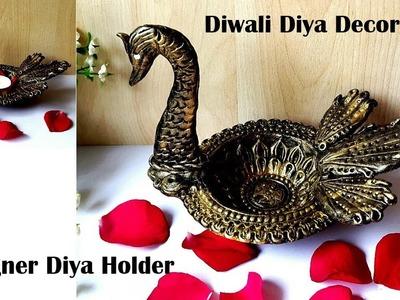 #diyadecoration #designerdiya | DIY Easy  Diya Decoration Idea #diyaholderdiy #Diwalidecor #diyadiy