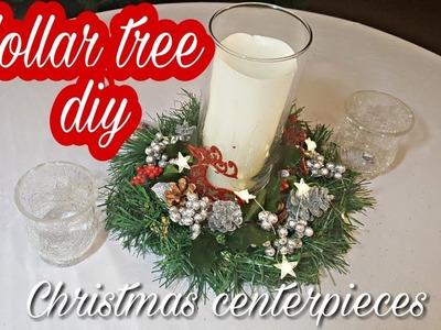 DOLLAR TREE DIY CHRISTMAS CENTERPIECES | CHRISTMAS DECOR 2018 | PINTEREST INSPIRED