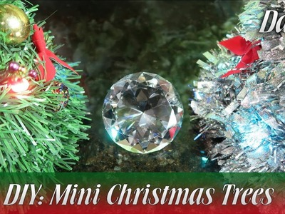 Dollar Tree DIY: Mini Christmas Trees
