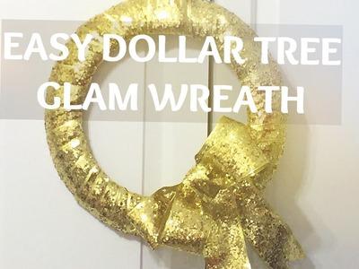 DOLLAR TREE GLAM CHRISTMAS WREATH