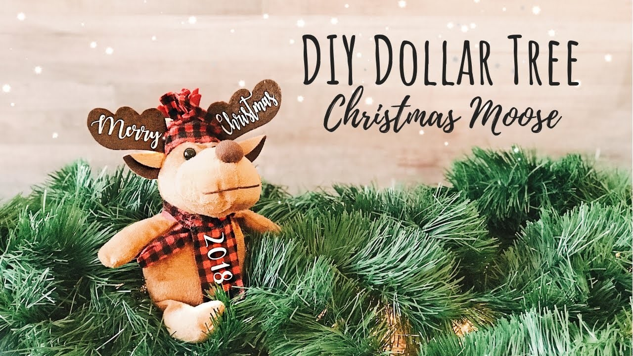 Dollar Tree Moose | Dollar Tree Reindeer | How to Personalize w. HTV | DIY Cricut Christmas