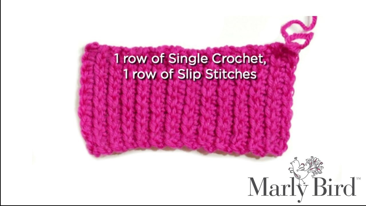 Easy Beginner Basic -- How to Crochet Knit Look Alike Ribbing Stitch [Right Handed]