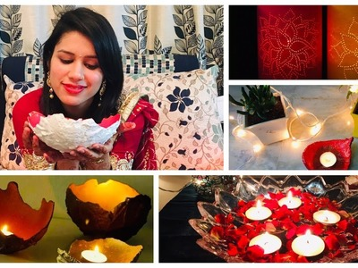 Easy Diwali Decoration ideas at home II DIY Candles and diyas
