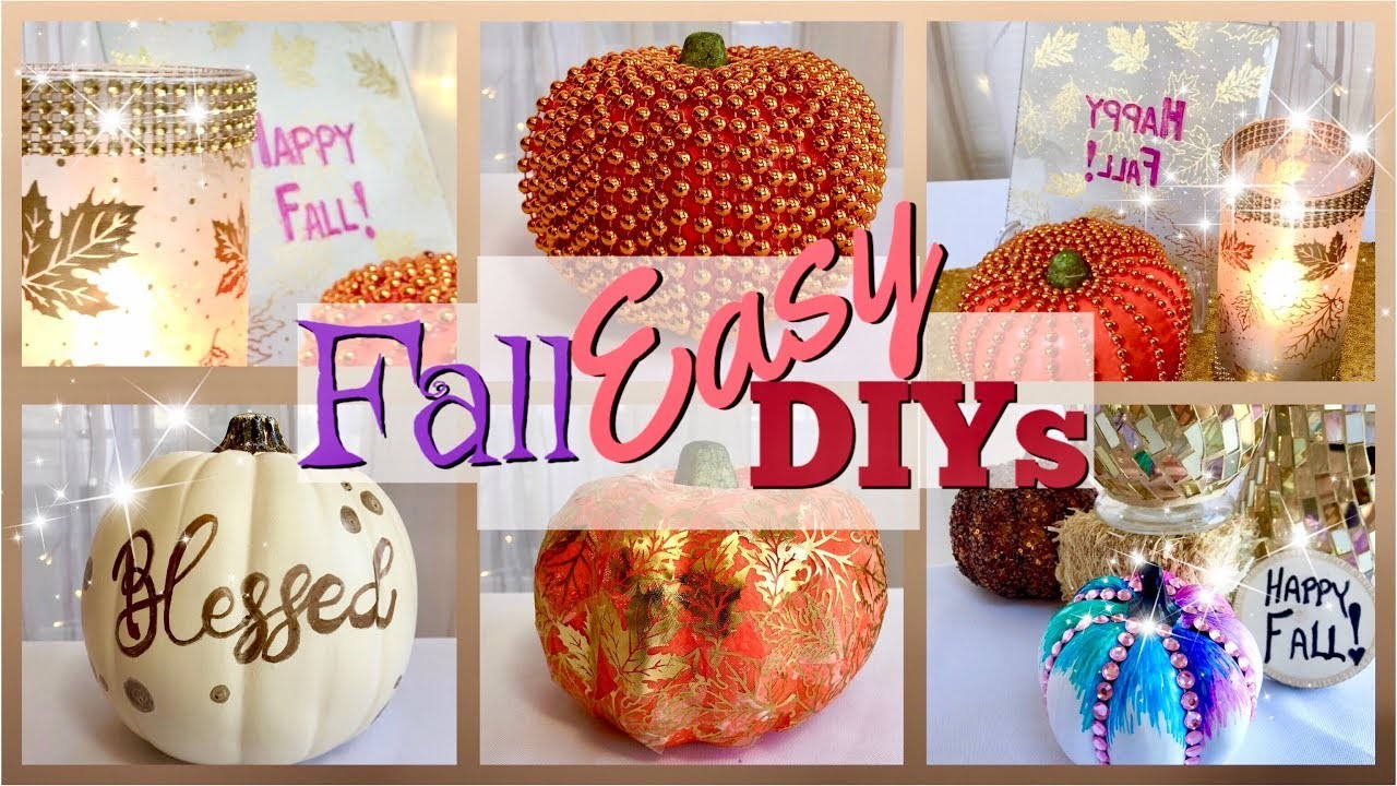 Easy FALL Decor DIYS | DOLLAR TREE Fall DIYs KIDS Can Make!